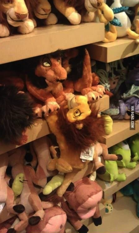 lion king, scar, stuffed animals, hacked irl
