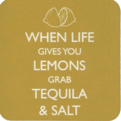 tequila, lemons, salt