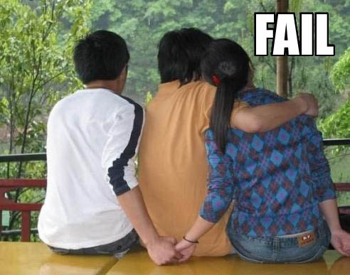 girl, guy, cheat, fail