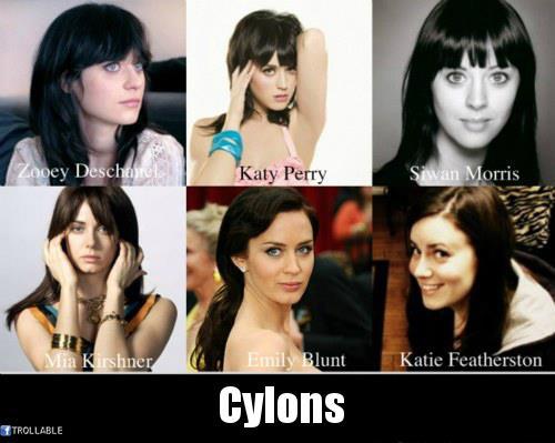 totallylookslike, cylons, zooey deschanel, katy perry