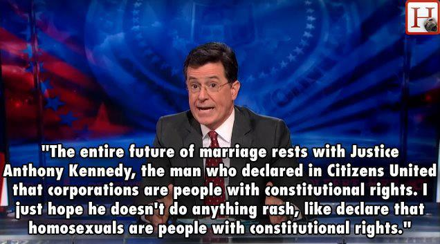 colbert report, gay marriage, supreme court