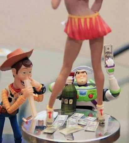 toy story, hookers, drugs, lol