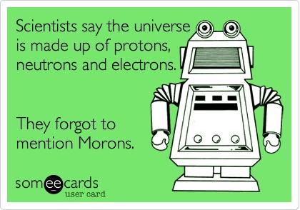 ecard, physics, morons