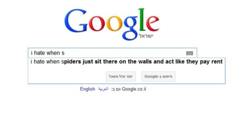 google, spider, wtf, pay rent