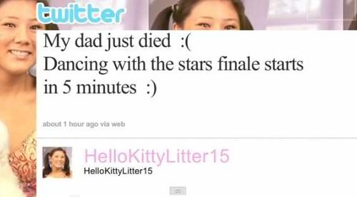 my dad just died but dancing with the stars finale starts in five minutes, worst mourning ever, twitter