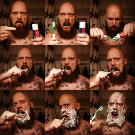 epic brush time, toothbrush, intense, wtf, lol