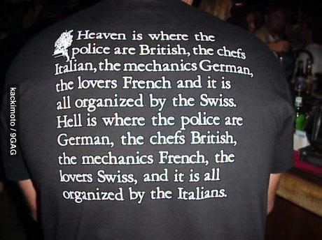tshirt, heaven, hell, british, french, german, italian
