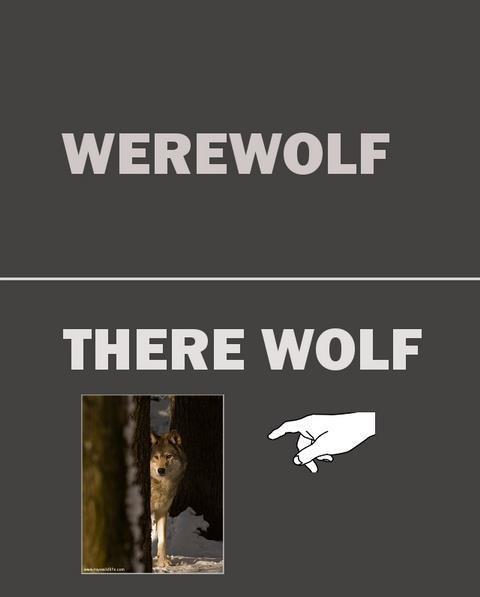werewolf, pun, wolf