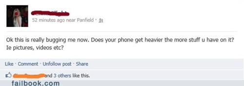 facebook, stupid, fail, phone, heavier