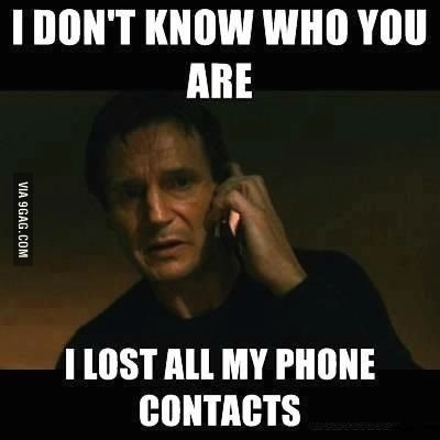 meme, liam neeson, phone, contacts