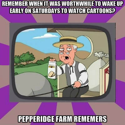pepperidge farm, remember, saturday morning cartoons