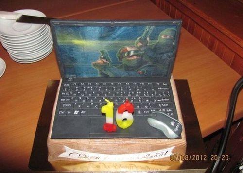 counter strike gaming laptop cake, win