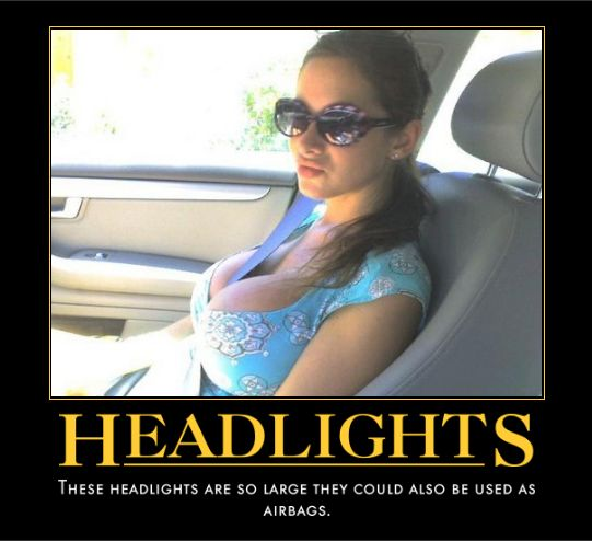 motivation, headlights, boobs, girl, sexy