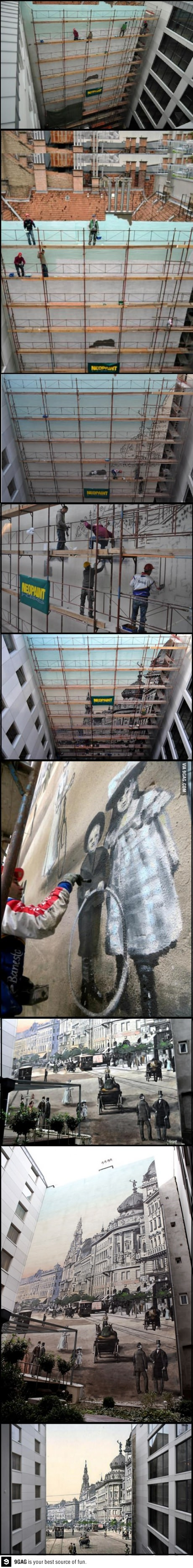 art, street, wall, city scape, wow