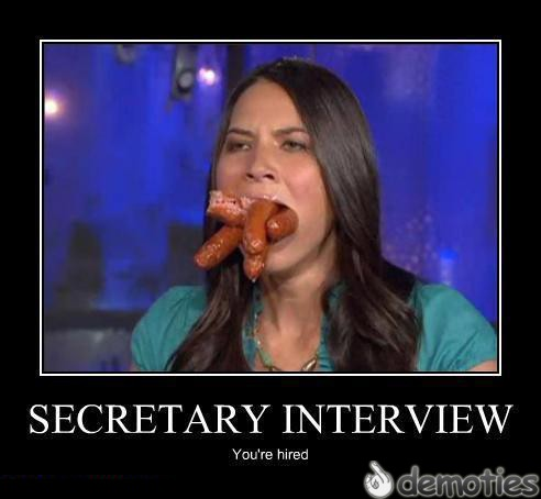 motivation, secretary, sausages, wtf