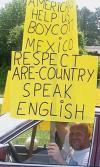 biggot, fail, racist, english, grammar