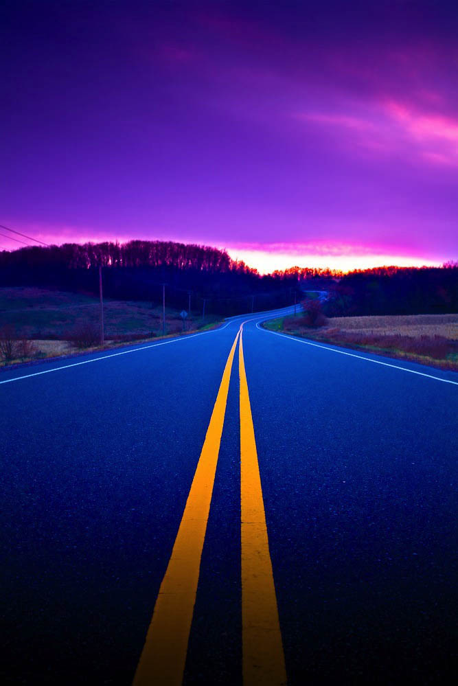 blue highway, scenery, beautiful, wisconsin