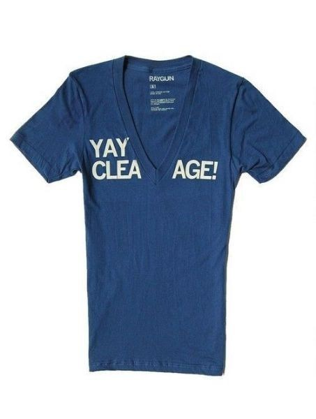 tshirt, cleavage