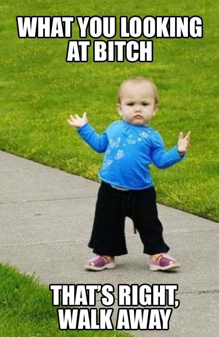 meme, kid, bitch, attitude