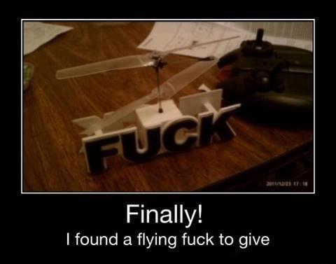 flying fuck, motivation