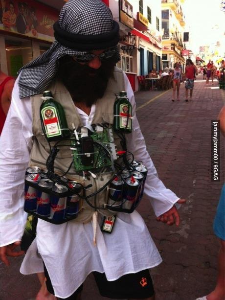 jägermeister, redbull, jihad, terrorist, costume
