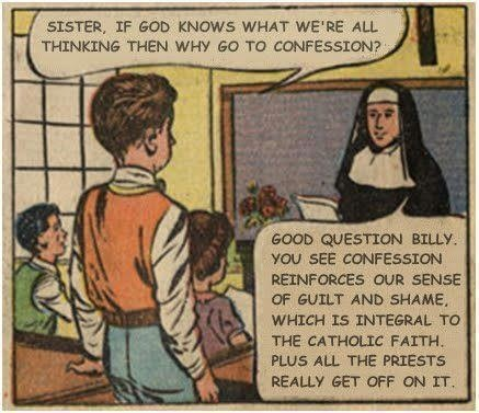 comic, nun, confession, lol, religion