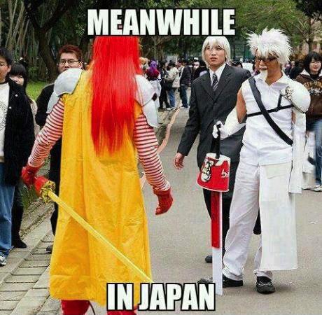 meanwhile, japan, kfc, mcdonald's