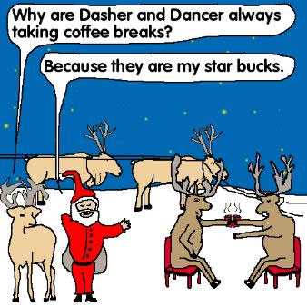 worst, joke, christmas, santa, reindeer, starbucks