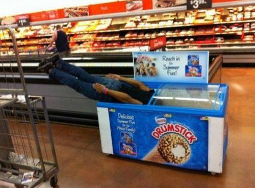 planking into drumstick freezer, wtf