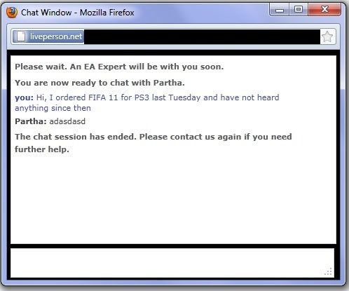 worst customer service chat ever, ea expert support, fail, wtf
