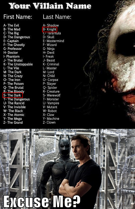 villain name, game, dark knight, batman