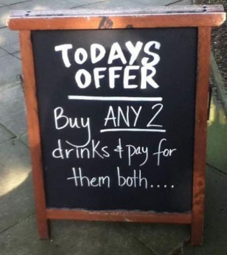 sign, bar, drinks, lol