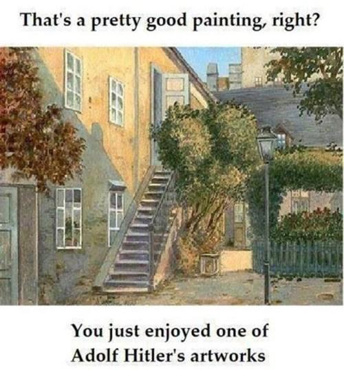 painting, artist, adolf hitler