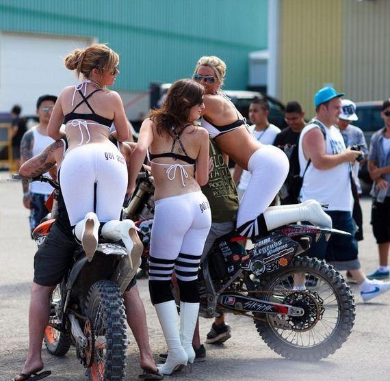 girls, bikers, sexy, butt