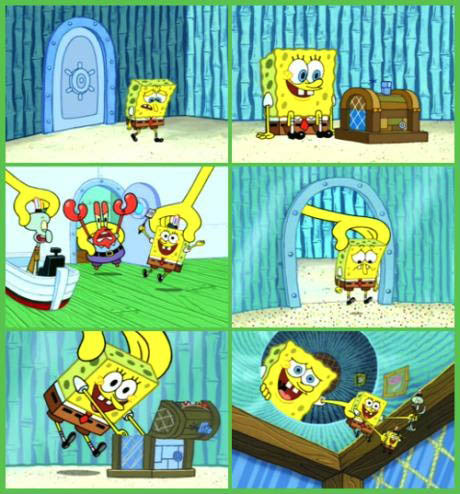 spongebob, inception, recursion