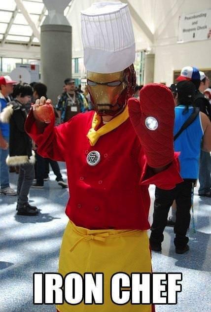 iron man, chef, costume, mashup