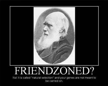 friendzoned?, no it is called natural selection and your genes are not meant to be carried on, motivation, genes
