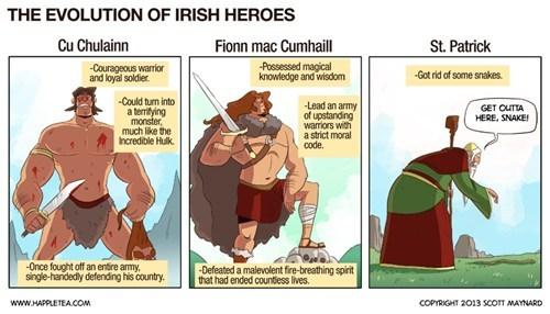st patrick, ireland, heroes, folklore