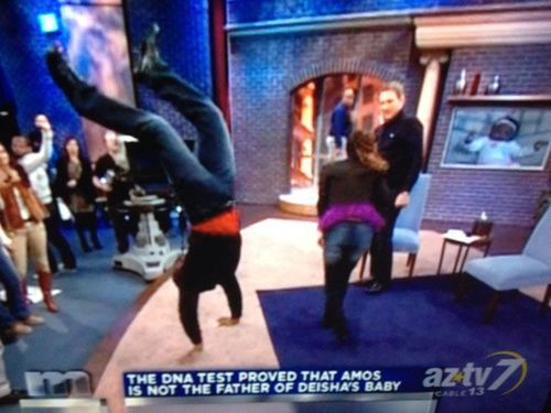 maury, father, hand stand