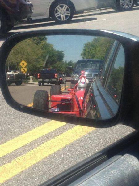 traffic, f1, rear view mirror