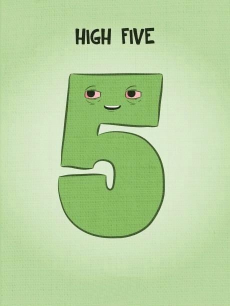 high five, pun, number