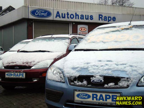 autohaus rape, name, car dealership, fail, wtf