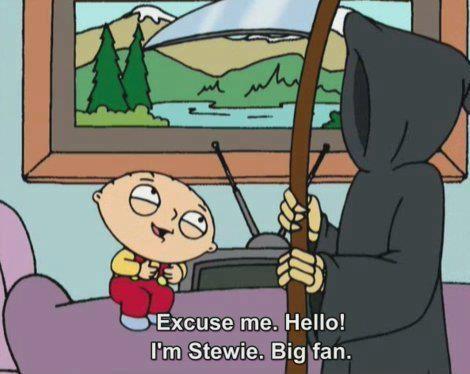 family guy, stewie, death