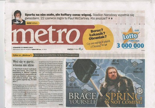 newspaper, spring, coming, photoshop, game of thrones