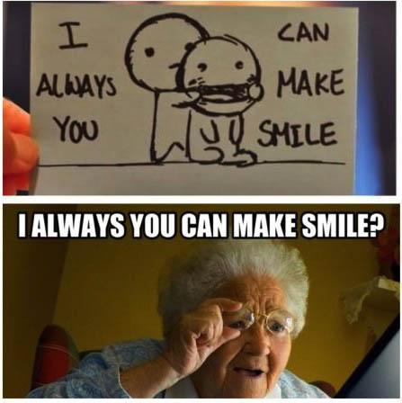 elderly, meme, smile, wtf, reading