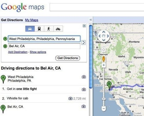 google maps, directions, west philadelphia, bel air