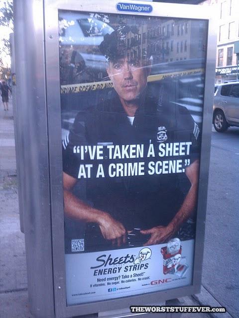 promotion, fail, sheet, cop, crime scene, wtf