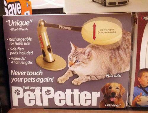pet petter, product, wtf
