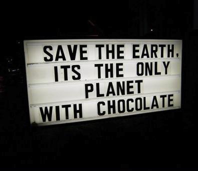 earth, save, chocolate