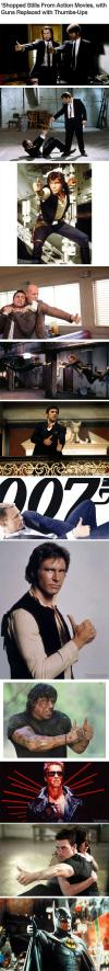 guns, compilation, thumbs up, photoshop, action stars, actors